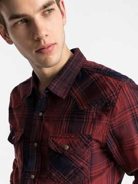 Picture of ROHAN DIRTY DAMSON PLAID SHIRT