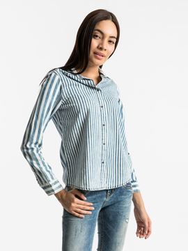 Picture of ALIYAH BLUE SKYLINE WASH SHIRT