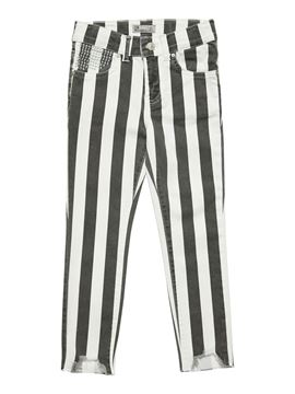 Picture of LONIA G STRIPED BLACK WASH TROUSERS